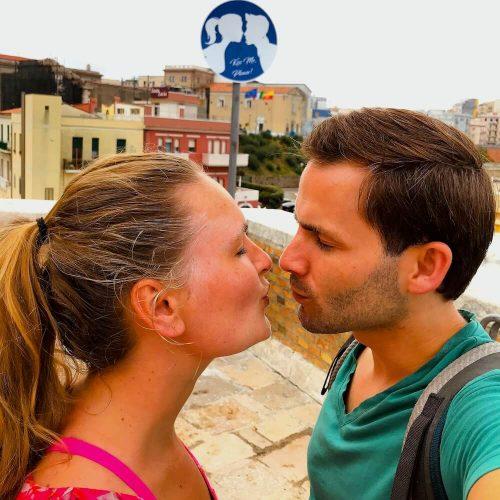 Kiss me verkeersbord Termoli