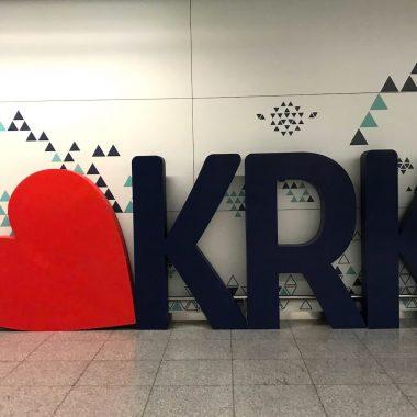 I love Krakau KRK airport cover
