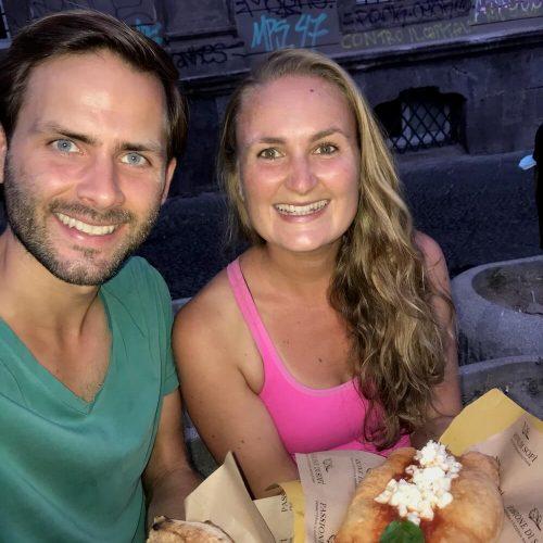 Annick en Gieljan eten Italië