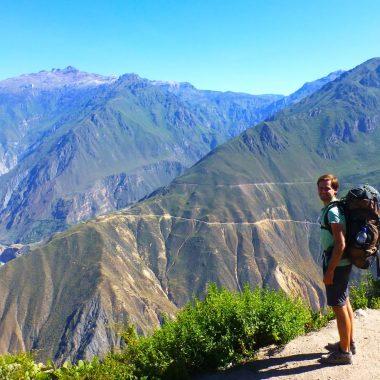 Uitzicht backpack Gieljan Peru