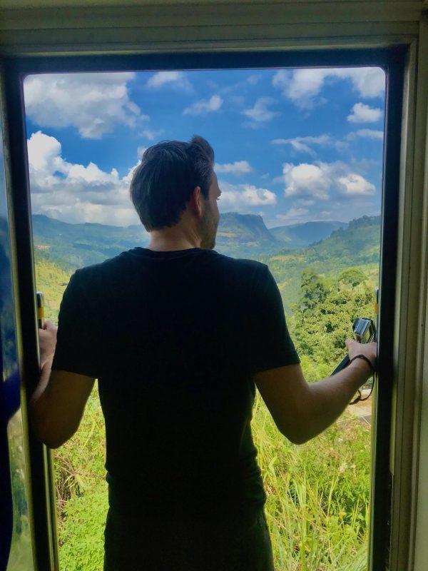 Uitzicht trein Sri Lanka