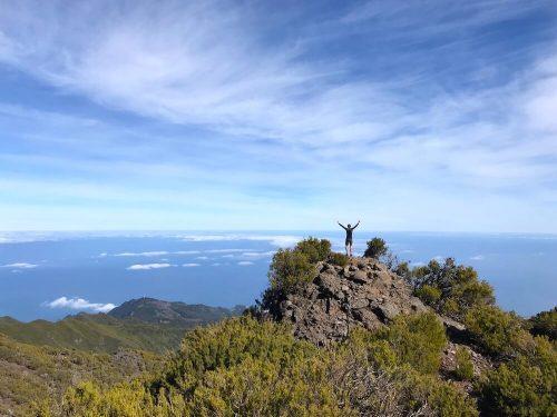 Uitzichtpunt onderweg naar top Pico Ruivo