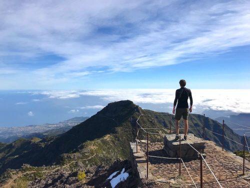 Uitzichtpunt top Pico Ruivo Madeira