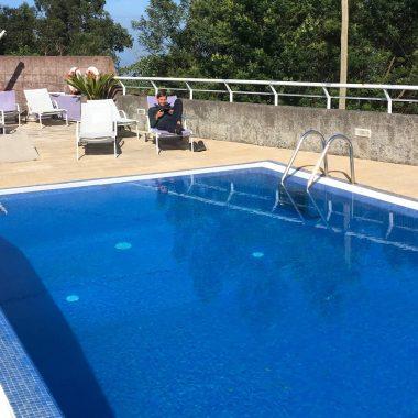zwembad casa das Proteas Madeira