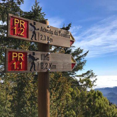 Bordje bewegwijzering PR hikes Madeira