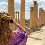Annick in Jordanië Jerash