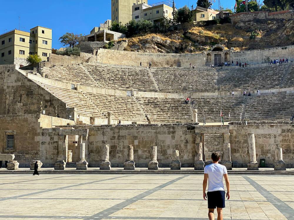Romeins Theater Amman Jordanië Jordan pass