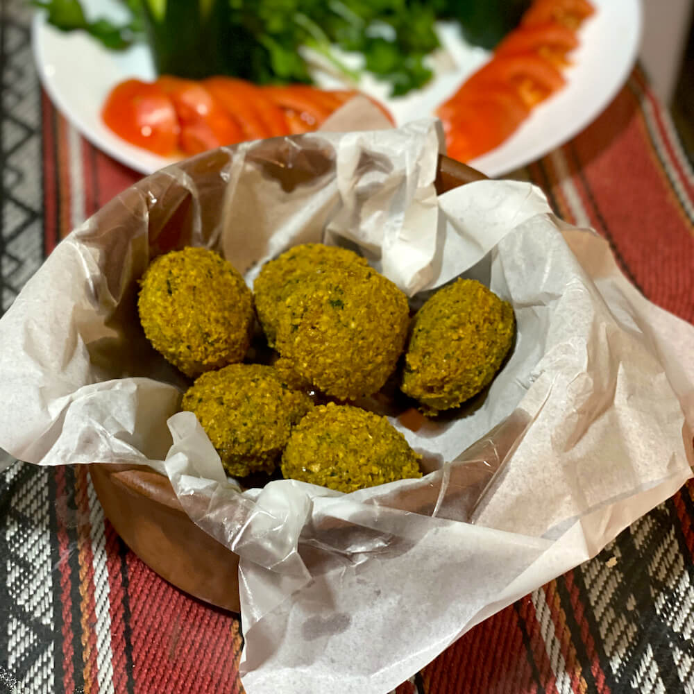 falafel cooking class Amman Jordan