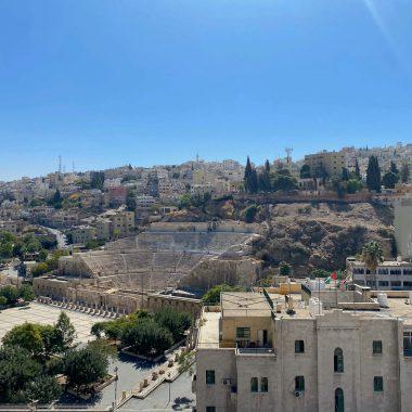 uitzicht Amman Pasha hotel Romeinse theater