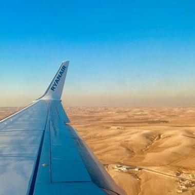 uitzicht vliegtuig Jordanie