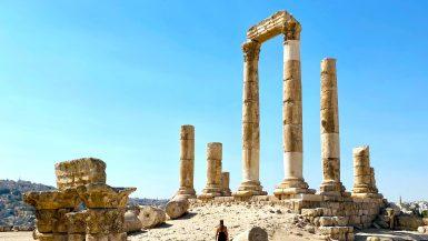 Annick bij Citadel Amman