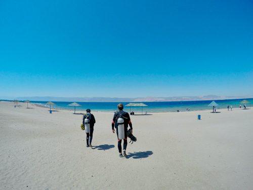 Duiken Aqaba vanaf het strand