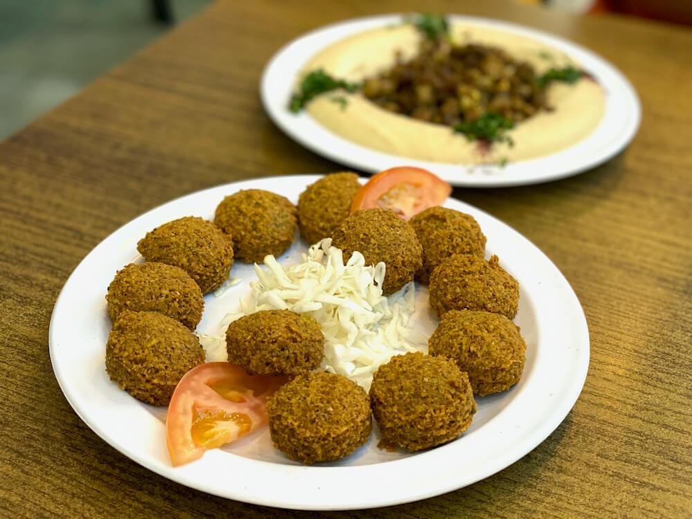 Falafel en Hummus