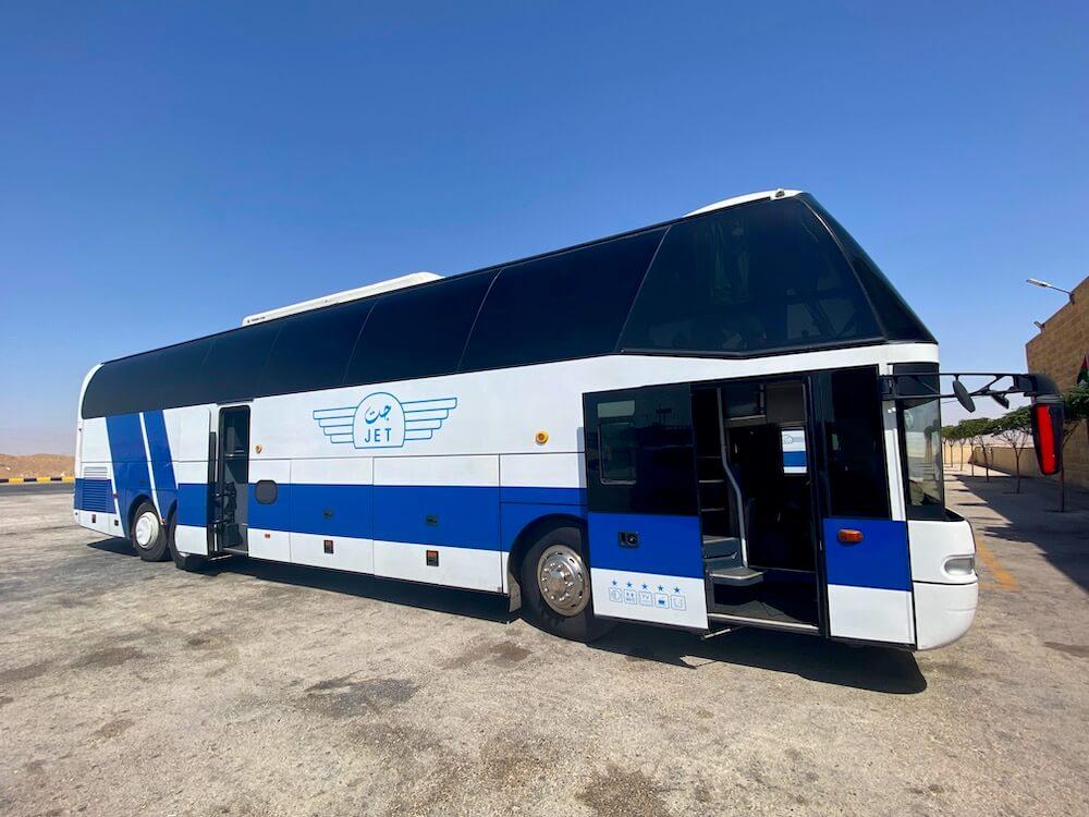 Jett bus van Amman naar Aqaba
